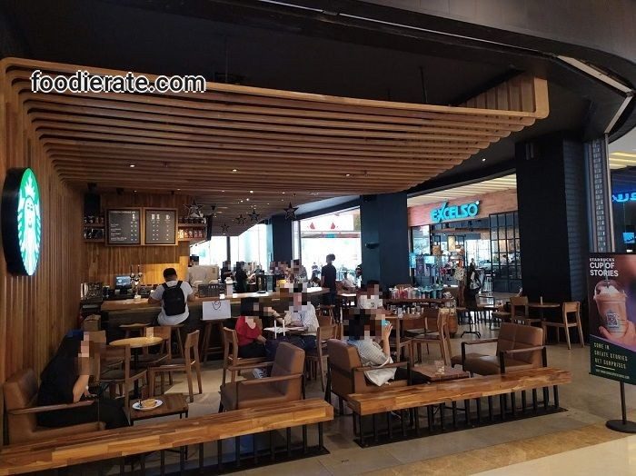 Lokasi Kafe Starbucks Coffee di Central Park Mall Lantai Ground