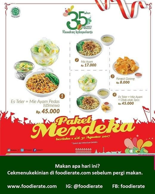 Promo Bulan Agustus 2017 Paket Merdeka Es Teler 77 Foodierate
