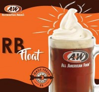 Menu Root Beer Float A & W Family